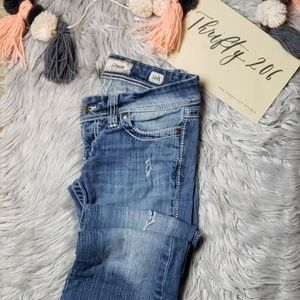 [BKE] Stella Flare Heavy Distressed Jeans